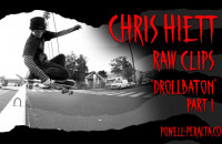 "Chris Hiett 'Raw Clips' - The Berrics ""Drollbaton"" Part 1"