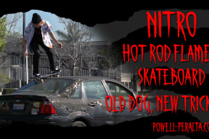 "'Old Dog, New Tricks' - NITRO ""Hot Rod Flames"" Skateboard"
