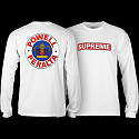 Powell Peralta Supreme L/S T-shirt - White