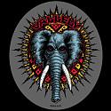 Powell Peralta Vallely Elephant Sticker single