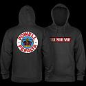 Powell Peralta Supreme Hooded Sweatshirt Mid Weight Charcoal Heather