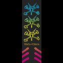 Powell Peralta Grip Tape Sheet 10.5 x 33 Rat Bones Fade (Black)