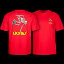 Powell Peralta Skateboarding Skeleton T-shirt - Red