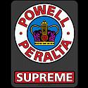 """Powell Peralta Supreme OG Sticker 3.25"""" 20 pk"""