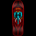 Powell Peralta Vallely Elephant Skateboard Deck RED - 10 x 30.25