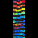 Powell Peralta Grip Tape Sheet 10.5 x 33 Rainbow Rip (Black)