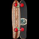 Powell Peralta Sidewalk Surfer Inlay Checker Natural Skateboard Cruiser Assembly - 7.75 x 27.20 WB 14.0