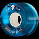 Powell Peralta Clear Cruiser Skateboard Wheels Blue 59mm 80A 4pk