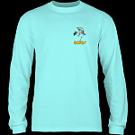 Powell Peralta Skateboarding Skelton L/S T-Shirt Celedon