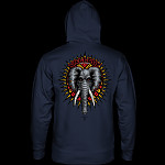 Powell Peralta Mike Vallely Elephant Midweight Hooded Sweatshirt - Navy