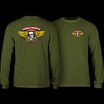 Powell Peralta Winged Ripper L/S T-shirt - Military Green