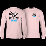 Powell Peralta Rat Bones L/S T-shirt Light Pink