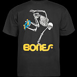 Powell Peralta Skateboarding Skeleton YOUTH T-shirt - Black