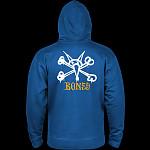Powell Peralta Rat Bones Hooded Zip Sweatshirt - Royal Blue