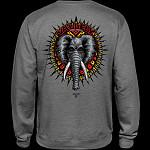 Powell Peralta Mike Vallely Elephant Midweight Crewneck Sweatshirt - Gunmetal Heather