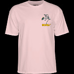 Powell Peralta Skateboarding Skeleton YOUTH T-shirt - Light Pink