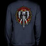 Powell Peralta Mike Vallely Elephant Midweight Crewneck Sweatshirt - Navy