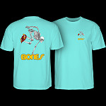 Powell Peralta Skateboarding Skeleton T-shirt - Celadon