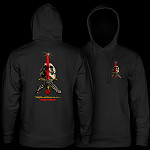 Powell Peralta Skull & Sword Midweight Hooded Sweatshirt - Black