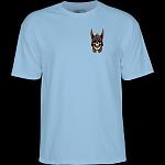 Powell Peralta Andy Anderson Skull T-Shirt - Caralina Blue