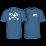 Powell Peralta Rat Bones T-Shirt Slate Blue