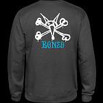Powell Peralta Rat Bones Midweight Crewneck Sweatshirt - Charcoal Heather