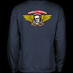 Powell Peralta Winged Ripper Midweight Crewneck Sweatshirt - Navy
