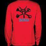 Powell Peralta Rat Bones Midweight Crewneck Sweatshirt - Red