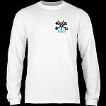 Powell Peralta Rat Bones L/S T-shirt White