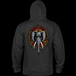 Powell Peralta Mike Vallely Elephant Hooded Sweat Shirt Mid Weight Charcoal Heather