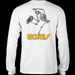 Powell Peralta Skateboarding Skeleton L/S Shirt White