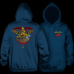 Powell Peralta Banner Dragon Hooded Sweatshirt Navy