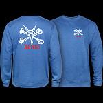Powell Peralta Rat Bones Midweight Crewneck Sweatshirt - Royal Heather