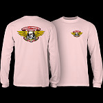 Powell Peralta WInged Ripper L/S T-shirt  Light Pink