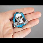 Powell Peralta Ripper Lapel Pin Blue