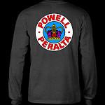 Powell Peralta Supreme L/S Shirt Charocal Heather