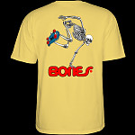 Powell Peralta Skateboarding Skeleton T-shirt Yellow