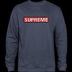 Powell Peralta Supreme Midweight Crewneck Sweatshirt - Navy Heather