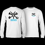Powell Peralta Rat Bones YOUTH L/S - White