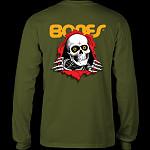 Powell Peralta Ripper L/S Shirt Military Green