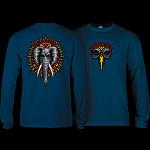 Powell Peralta Vallely Elephant L/S Shirt Navy