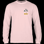 Powell Peralta Skateboarding Skeleton YOUTH L/S - Light Pink