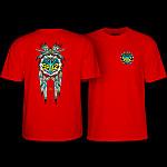 Powell Peralta Steve Saiz Totem T-Shirt Red