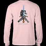Powell Peralta Skull & Sword L/S Shirt Lt. Pink