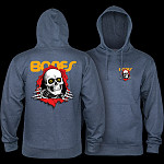 Powell Peralta Ripper Hooded Sweatshirt Mid Weight Navy Heather