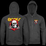 Powell Peralta Ripper Hooded Zip Sweatshirt - Charcoal Heather