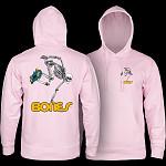 Powell Peralta Sk8board Skeleton Hooded Sweatshirt Light Pink