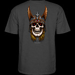 Powell Peralta Andy Anderson Skull T-Shirt - Charcoal Heather