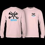 Powell Peralta Rat Bones YOUTH L/S - Light Pink