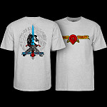 Powell Peralta Triple P Skull and Sword T-shirt Heather
